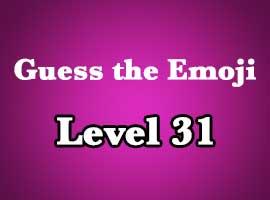 Guess The Emoji Level 31 Answers And Cheats Emoji Pop Answers