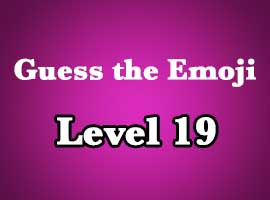 Emoji Pop Answers Level 19