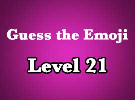 Emoji Pop Answers Level 21