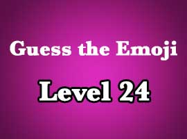 Emoji Pop Answers Level 24
