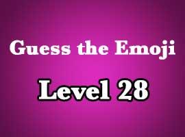 guess the emoji level 28